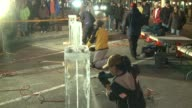 WXMI Ice Sculptors Create Sculptures In A Contest on January 04 2013 in Holland Michigan