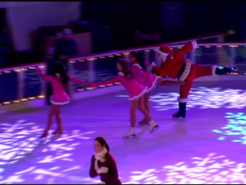 Ice Skaters at the 74th Annual Rockefeller Center Christmas Tree Lighting Ceremony at Rockefeller Center in New York New York on November 29 2006