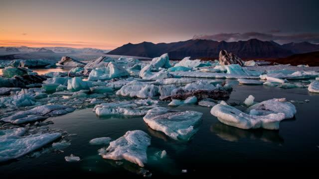 Icebergs in Jokulsarlon glacial lake Iceland