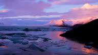 Iceberg di Jokulsarlon Time lapse