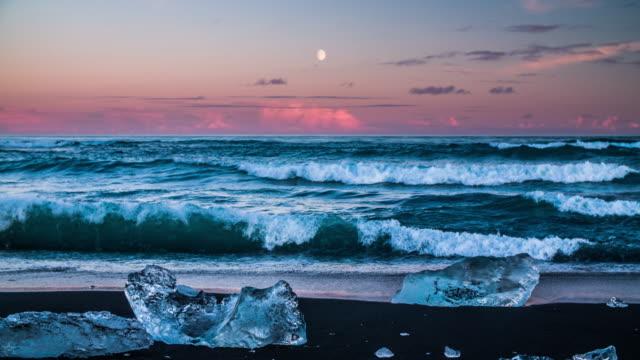 Eisberge auf den Strand, Jokulsarlon Island