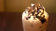 iced coffee with whip cream