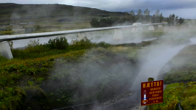Iceland Deildartunguhver Geothermal Hot Springs world's largest by volume in Reykholtsdalur in West Iceland