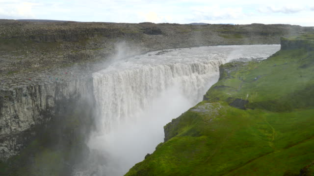 Iceland, Dettifoss waterfall, the most powerful waterfall in Europe, Vatnajökull National Park
