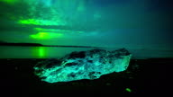 Iceland Glacier Lagoon Aurora Timelapse