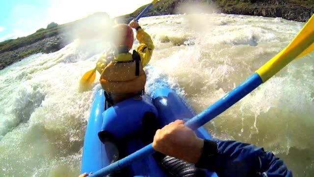 Iceland kayaking canoe river twin people Kayak adventure paddle