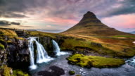 Iceland landscape at sunset, Kirkjufell