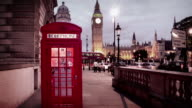 Iconic London Phone Booths in front of House of Parliament