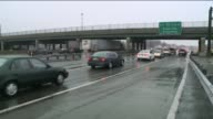Icy Roads Cause Hundreds of Accidents from Philly to New York and Connecticut on January 18 2015 in Fort Lee New Jersey