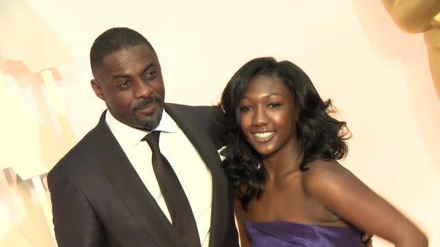 Idris Elba and Isan Elba at 87th Annual Academy Awards Arrivals at Dolby Theatre on February 22 2015 in Hollywood California
