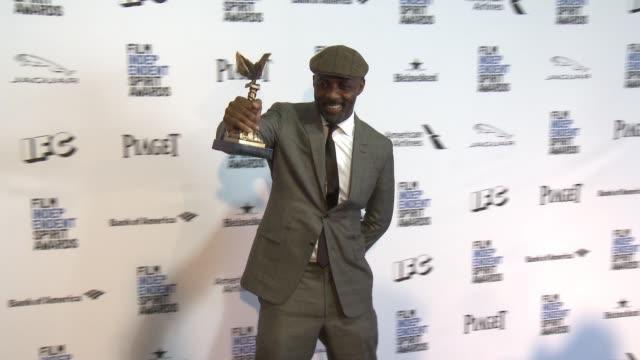 Idris Elba at 2016 Film Independent Spirit Awards Press Room on February 27 2016 in Santa Monica California