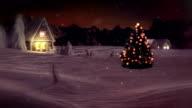 HD: Idyllic Christmas Tree In Winter Wonderland