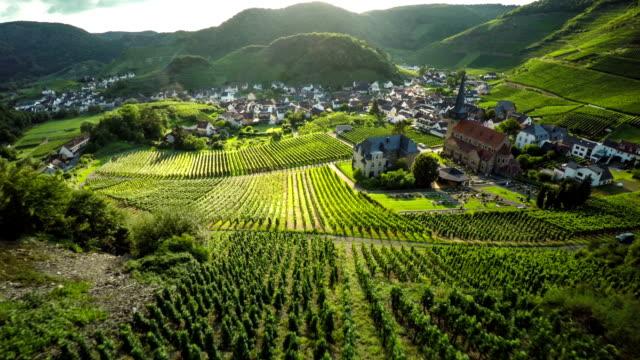 Idyllische Landschaft mit Weingütern