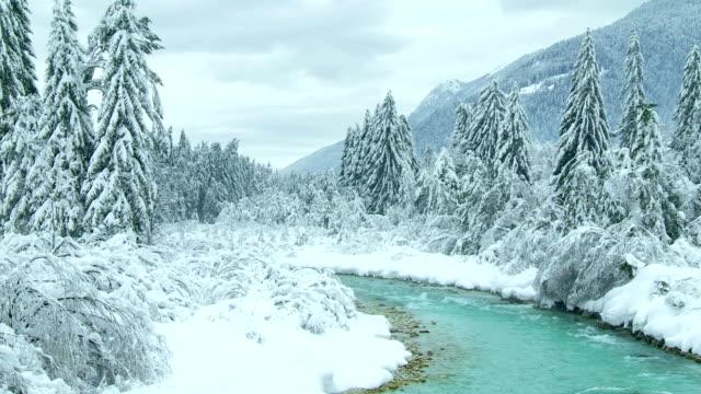 Idilliaco paesaggio invernale