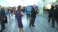 Illinois Attorney General Lisa Madigan and Senator Dick Durbin greet constituents on Election Day Nov 4 2014