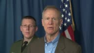 WGN Illinois Governor Bruce Rauner announced at press conference on April 10 2017 that Illinois State Police were forming a partnership with the...