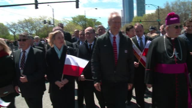 WGN Illinois Governor Bruce Rauner Walks in the Polish Constitution Day Parade Talks with Spectators About 10000 people lined an abbreviated parade...