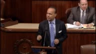 Illinois Rep Luis Gutierrez speaks partially in Spanish in opposition to a spending bill before the body because it does not give the people of fruit...