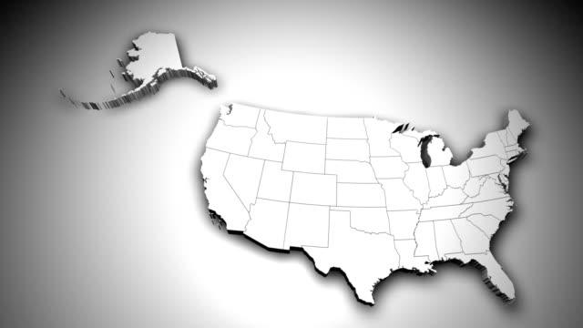 3D Illinois State USA Zoom
