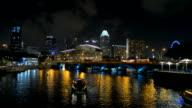 Illuminated Dusk Night Light Nighttime, Tourist Passengers Enjoy Boat Trip
