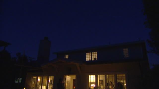 MS, TD, Illuminated house at night, Venice, California, USA
