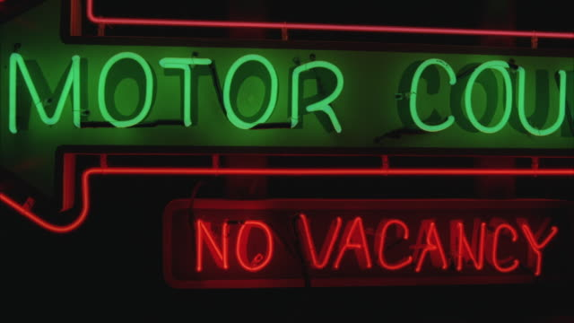 CU Illuminated No Vacancy Motel Sign