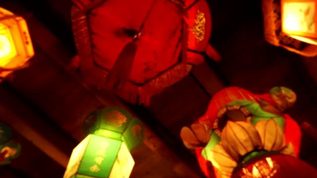 Beleuchtet royal Stil traditionellen chinesischen Laternen Aufhängen innen