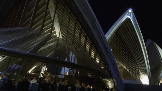 T/L, CANTED, Illuminated Sydney Opera House at night, Sydney, Australia