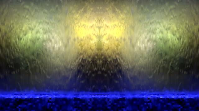 Beleuchtete Wasserfall-Abstrakter Hintergrund
