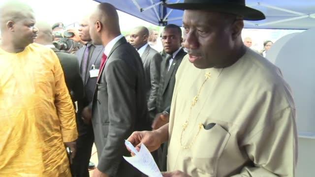 Illustration images of the two Nigerian presidential candidates Goodluck Jonathan and Muhammadu Burahi Lagos Nigeria