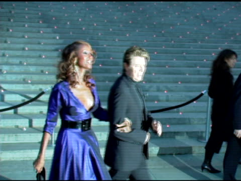 Iman and David Bowie at the 2006 Tribeca Film Festival Vanity Fair Party at State Supreme Courthouse in New York New York on April 26 2006