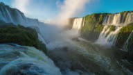 Immense Waterfall at Sunrise, Iguazu Falls, Brazil