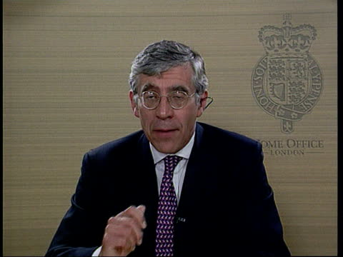 London Jack Straw MP interviewed SOT Its not a crisis / the Conservatives did leave us with a shambles We have acted quickly / Conservatives took 2...
