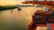 Import Cargo River Side Sunset