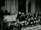 In 1941 US President Franklin D Roosevelt gives his famous Day of Infamy speech before Congress