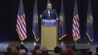 In an event in Manchester New Hampshire the day before the New Hampshire primary US Presidential candidate and businessman Donald Trump spoke to...