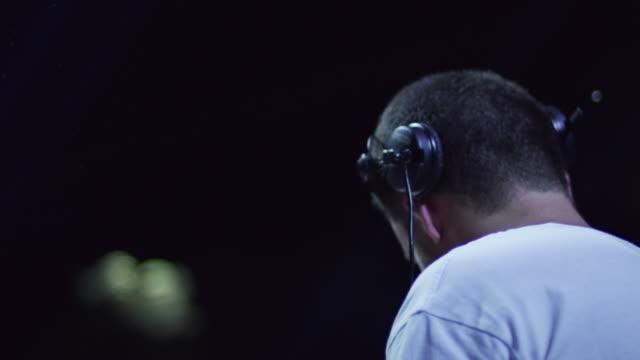 DJ in slow motion 4K