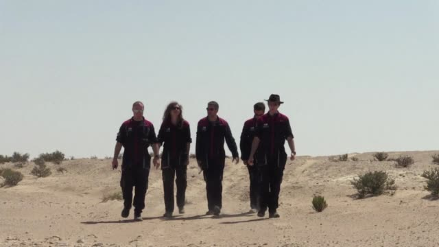 In sunglasses and jumpsuits a crew of European test astronauts is laying the groundwork for a Mars simulation in the barren expanse of the Omani...