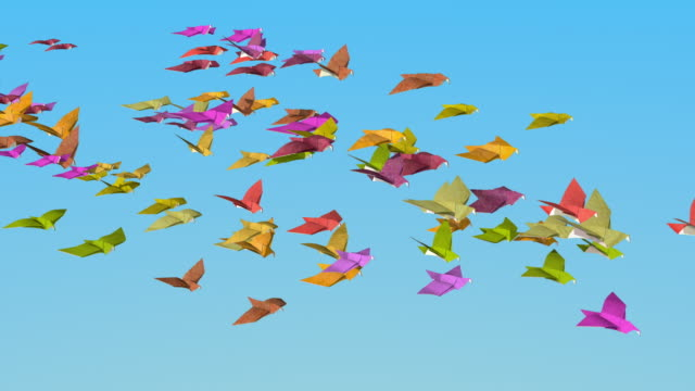 In the autumn of origami doves fly away