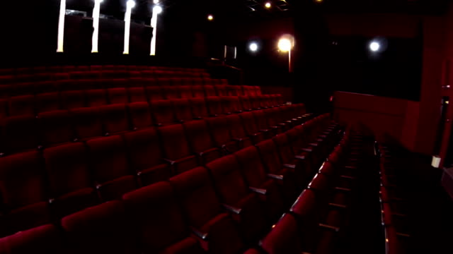In the empty cinema hall