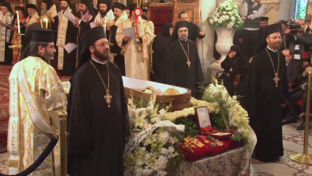 In the Old City district of Damascus the Greek Orthodox Church of Syria held a funeral on Monday for Ignatius IV Hazim patriarch of Antioch and All...
