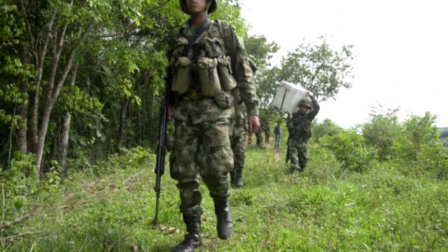 In the past three months more than 100 hectares of coca plantations have been destroyed by local authorities in the mountains northeast of Medellin...