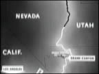/ In this 2nd of 5 segments Studebaker describes the route of the event from Los Angeles California to Sun Valley Idaho / Shots of cars leaving...