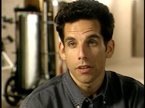 """In this behind the scenes footage taped by Dallasbased director Jim Ruddy for """"Entertainment Tonight"""" actor/director Ben Stiller gives an interview..."""