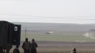 In this undated video made on March 14 by the Kurdish Region Security Council Peshmerga forces are seen during the clashes with Daesh on a road to...