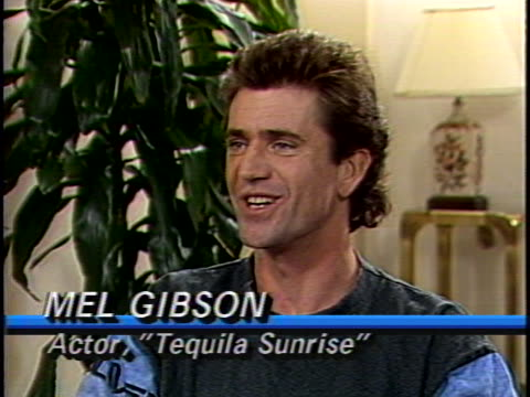 In this unedited interview actor Mel Gibson talks about his latest film Tequila Sunrise Gibson discusses the theme of friendship in the movie and how...