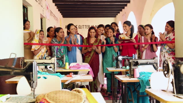 Inauguration of a tailoring class, Sonipat, Haryana, India