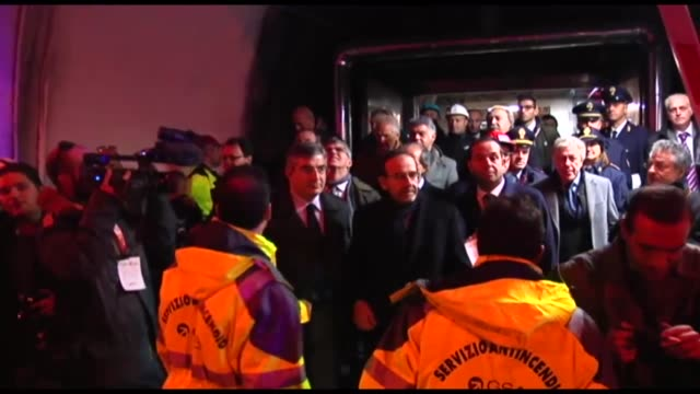 Inauguration of iTunnel on the tunnel underneath the Gran Sasso mountain on December 17 2014 The iTunnel's drone it's an automated device antifire...