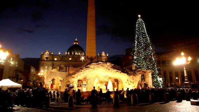 Inauguration of Presepe Christ's Nativity in St Peter's Square Inauguration of Presepe Christ's Nativity in St Peter's Square at St Peter's Square on...