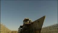 Incheon EXT Cheonan corvette ship in naval dock yard Damaged ship in dry dock INT Damage to interior of sunken ship EXT Cheonan ship in dock...